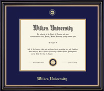 Framing Success Prestige Diploma Frame Double Matted in Satin Black Finish, Gold Trim