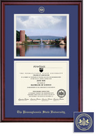 Framing Success Classic DiplomaPhoto Double Matted Diploma Frame in Burnished Cherry Finish
