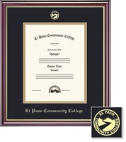 Framing Success Certificate Frame in Gloss Cherry Finish and Gold Trim