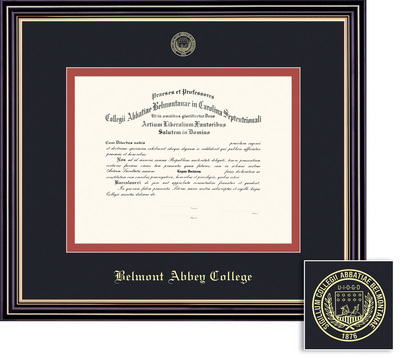 belmont abbey college bookstore framing success prestige diploma  framing success prestige diploma frame double matted in satin black finish gold trim