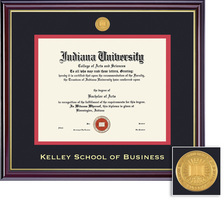 Framing Success Kelley School of Business Windsor Diploma Frame in Gloss Cherry Finish, Gold Trim