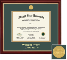 BA, MA Regal Diploma Frame Cherry Finish with Gold Accents