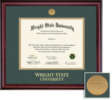 Doctorate. Classic Medallion 907 Pres Double Matted Diploma Frame