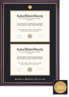 Framing Success Windsor Double Matted Medallion Double Bachelor Diploma Frame