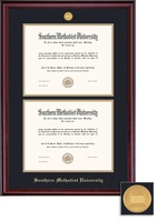 Framing Success Classic Double Diploma Medallion Double Matted Double Bachelor Diploma Frame