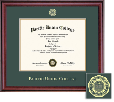 pacific union college bookstore framing success pacific union  framing success pacific union college diploma frame greengold double mat and gold embossing