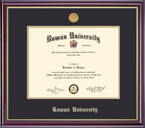 Framing Success Windsor Diploma Frame with Medallion, Dbl Mat in Gloss Cherry Finish and Gold Trim