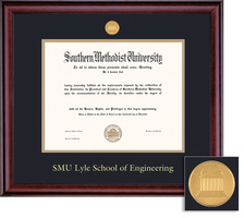 Framing Success Classic 409 Pres Engineering Medallion Double Matted MA PhD Diploma Frame