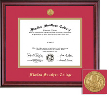 Framing Success Classic Medallion BAMA Double Matted Diploma Frame