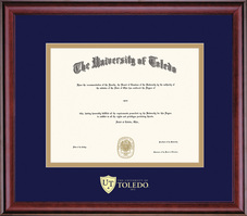 Framing Success Classic Diploma Frame, Dbl Matted in Cherry Finish. Masters, Doctorate, or Law