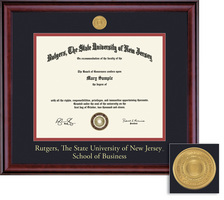 Framing Success Classic Business with Medallion Double Matted Diploma Frame