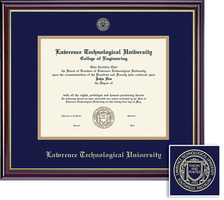 Framing Success Windsor MA Diploma Frame, Double Mat in a High Gloss Cherry Finish, Gold Inner Bevel