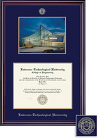 Framing Success MA Classic, Photo Frame, Navy Blue and Gold Double Mat, and Gold Embossing