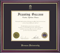 Framing Success Windsor BA Diploma Frame Double Matted in Gloss Cherry Finish and Gold Trim