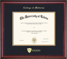 Framing Success Classic Diploma Frame, Double Matted in Burnished Cherry Finish. Masters, Doctorate