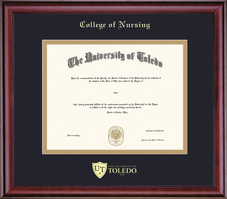 Framing Success Classic Diploma Frame, Dbl Matted in Cherry Finish. Nursing Masters, Doctorate