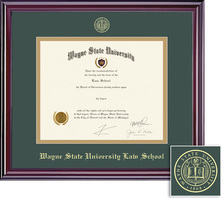 Framing Success Elite Law Upgrade Double Matted Diploma Frame