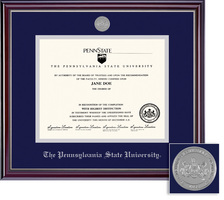 Framing Success Penn State Nittany Lions Jefferson Medallion Diploma Frame