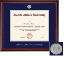 Framing Success Classic Diploma Frame Double Matted in a Burnished Cherry Finish