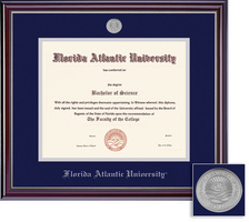 Framing Success Jefferson Diploma Frame Double Matt High Gloss Cherry with Silver Inner Bevel