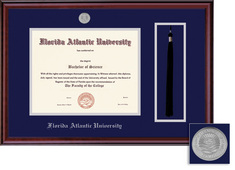 Framing Success Classic Diploma Tassel Double Matted Frame in a Burnished Cherry Finish