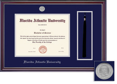 Framing Success Jefferson Diploma, Double Matt High Gloss Cherry Finish with Silver Inner Bevel