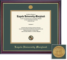 Framing Success Windsor Diploma Frame Double Matted in High Gloss Cherry Finish with Gold Trim