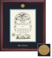 Framing Success Classic Medallion BA Double Matted Diploma Frame