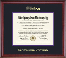 Framing Success Classic Kellogg Management Double Matted Diploma Frame