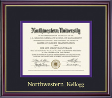Framing Success Windsor Kellogg Management Double Matted Diploma Frame