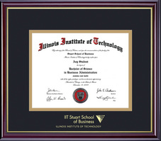 Framing Success Windsor Business Diploma Frame in Gloss Cherry Finish and Gold Trim