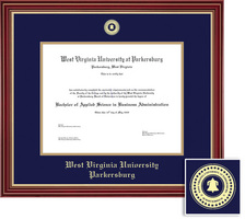 Pace University Law Diploma with Navy Blue and Gold Double Mat in Classic