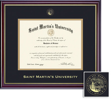 Sant Martins University Diploma with Black and Gold Double Mat in Windsor