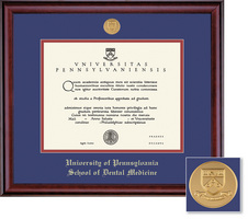 Framing Success School Of Dental Medicine Classic Moulding Single Diploma Frame With Gold Medallion