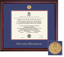 Framing Success University Of Pennsylvania Classic Moulding Single Diploma Frame Gold Medallion