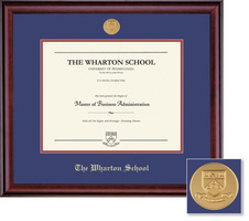 Framing Success Wharton School Classic Moulding Single Diploma Frame With Gold Medallion
