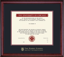 Framing Success Classic Harris Public Policy Diploma Frame