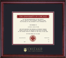 Framing Success Classic Law School Diploma Frame In Cherry Finish