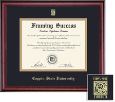Framing Success Classic MA Double Matted Diploma Frame in a Burnished Cherry Finish