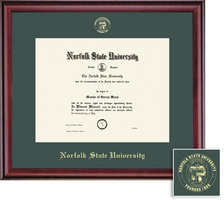 Framing Success Classic Associate Single Matted Diploma Frame in a Burnished Cherry Finish
