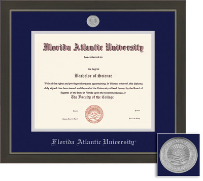fau boca raton jupiter campus bookstore bookstore framing  framing success metro diploma frame double matted in a modern slate gray a pewter finish