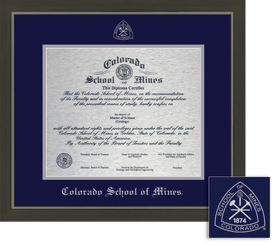 colorado school of mines bookstore framing success metro metal  framing success metro metal single matted diploma framein a modern slate gray a pewter finish