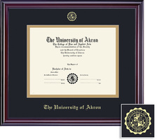 Framing Success Elite Double Matted Diploma Frame in Gloss Cherry Finish. PHD