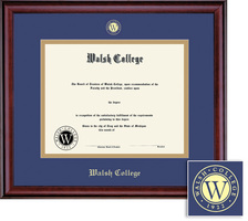 Framing Success Classic Diploma Frame, Double Matted in Burnished Cherry Finish. Masters
