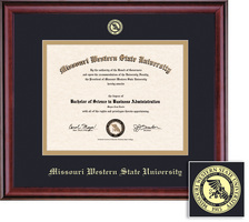 Framing Success Classic Diploma Frame, Single Mat in Burnished Cherry Finish