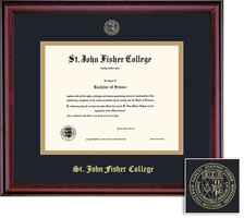 Framing Success Classic Diploma Frame, Dbl Matted in Burnished Cherry Finish. Bachelors, Masters
