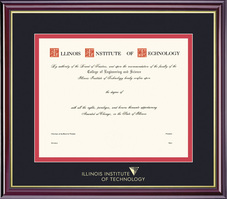 Framing Success Windsor Double Matted Diploma Frame in High Gloss Cherry Finish