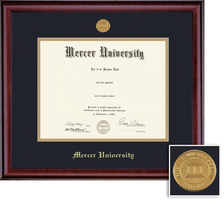 Framing Success Classic Diploma Frame with Medallion, Dbl Matted in a Burnished Cherry Finish