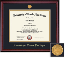Framing Success PhD Classic Medallion Double Matted Diploma Frame