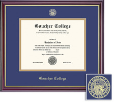 Framing Success Windsor Double Matted Diploma Frame in Gloss Cherry Finish